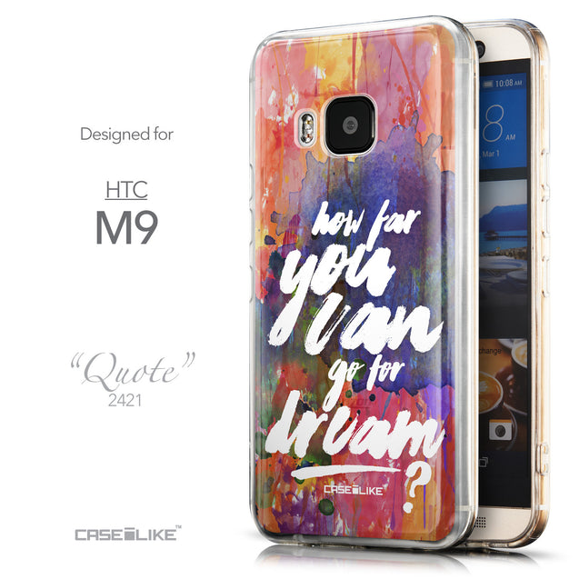 Front & Side View - CASEiLIKE HTC One M9 back cover Quote 2421