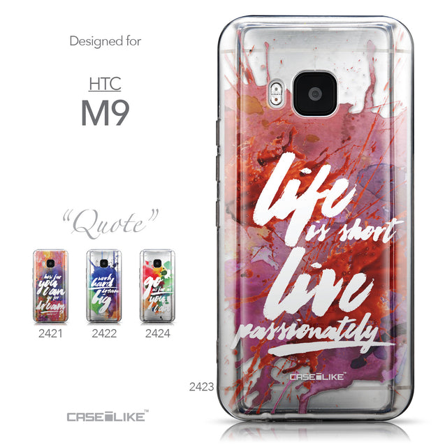Collection - CASEiLIKE HTC One M9 back cover Quote 2423