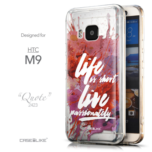 Front & Side View - CASEiLIKE HTC One M9 back cover Quote 2423