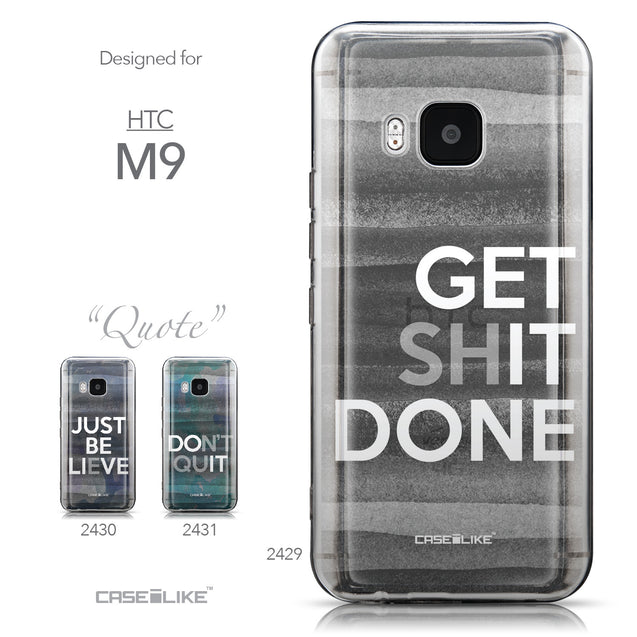 Collection - CASEiLIKE HTC One M9 back cover Quote 2429