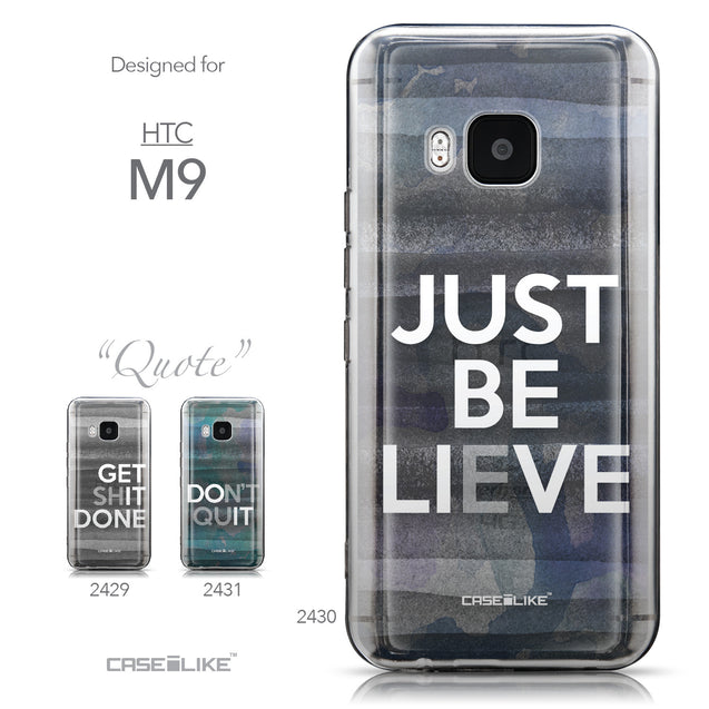 Collection - CASEiLIKE HTC One M9 back cover Quote 2430