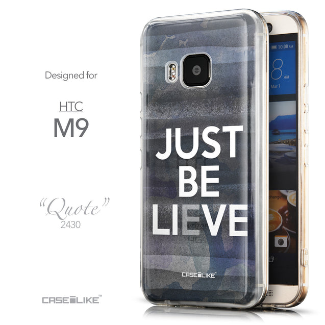 Front & Side View - CASEiLIKE HTC One M9 back cover Quote 2430
