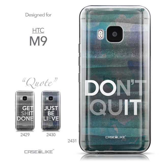 Collection - CASEiLIKE HTC One M9 back cover Quote 2431