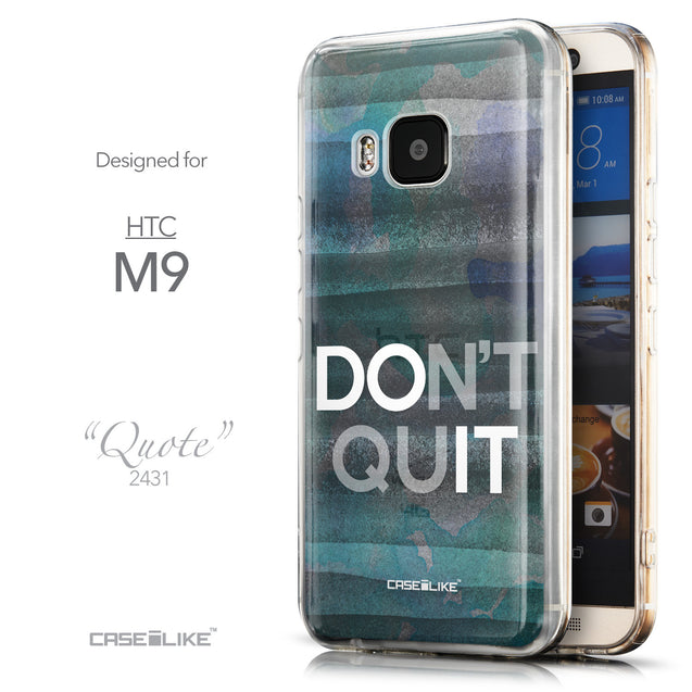 Front & Side View - CASEiLIKE HTC One M9 back cover Quote 2431