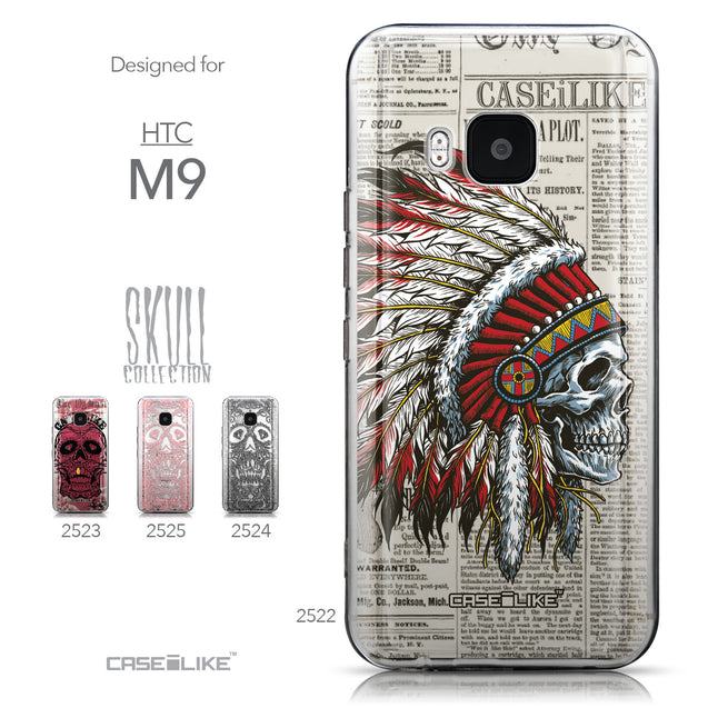 Collection - CASEiLIKE HTC One M9 back cover Art of Skull 2522