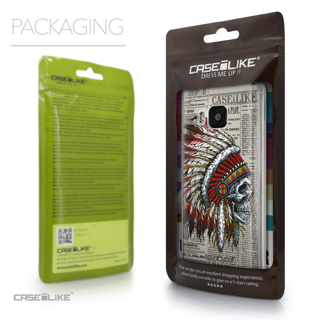 Packaging - CASEiLIKE HTC One M9 back cover Art of Skull 2522