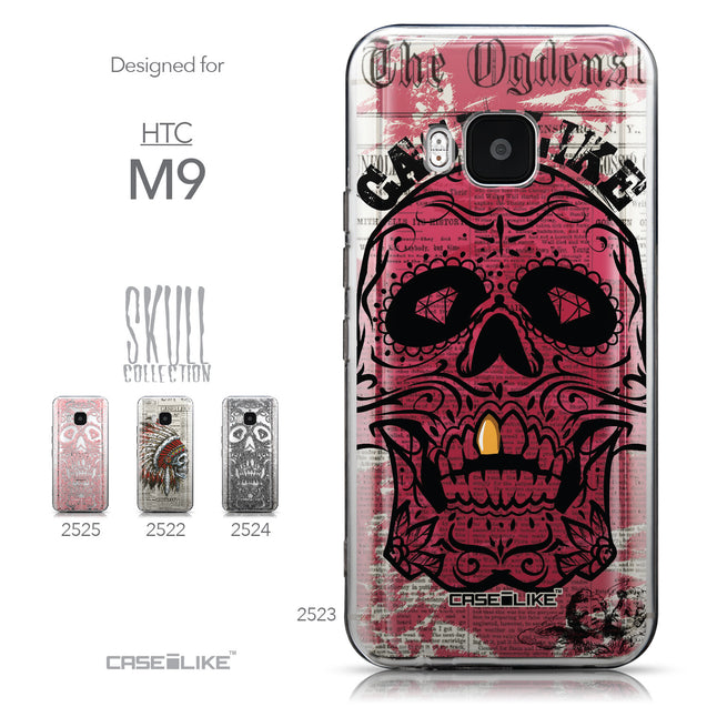 Collection - CASEiLIKE HTC One M9 back cover Art of Skull 2523