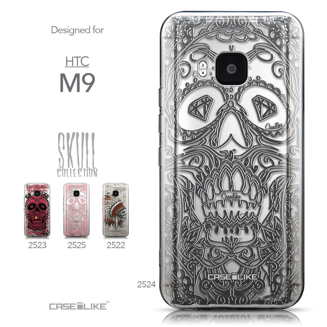 Collection - CASEiLIKE HTC One M9 back cover Art of Skull 2524