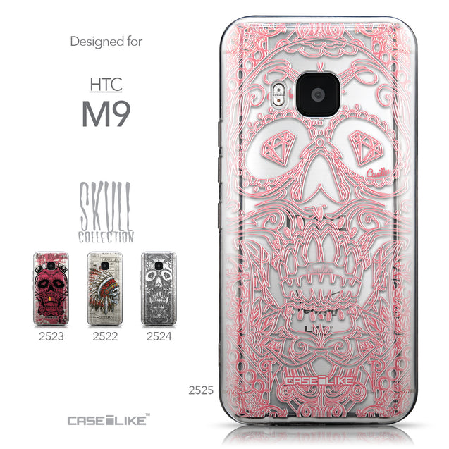 Collection - CASEiLIKE HTC One M9 back cover Art of Skull 2525