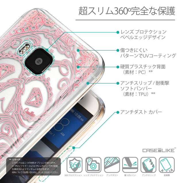 Details in Japanese - CASEiLIKE HTC One M9 back cover Art of Skull 2525