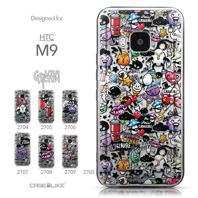 Collection - CASEiLIKE HTC One M9 back cover Graffiti 2703