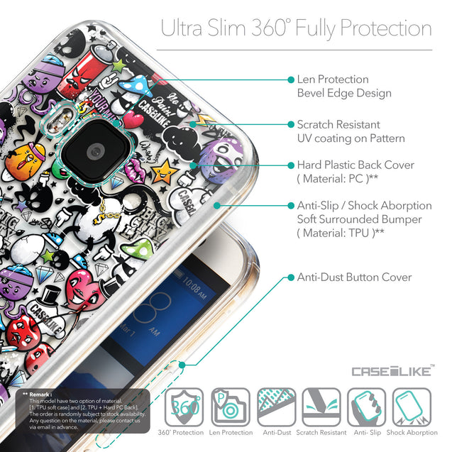 Details in English - CASEiLIKE HTC One M9 back cover Graffiti 2703