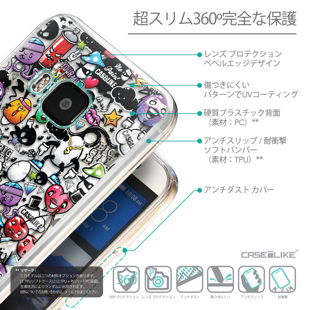 Details in Japanese - CASEiLIKE HTC One M9 back cover Graffiti 2703