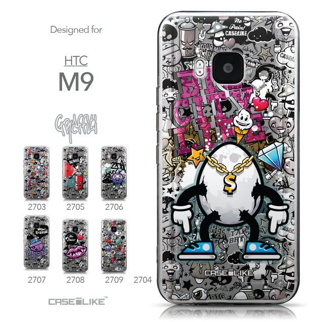 Collection - CASEiLIKE HTC One M9 back cover Graffiti 2704