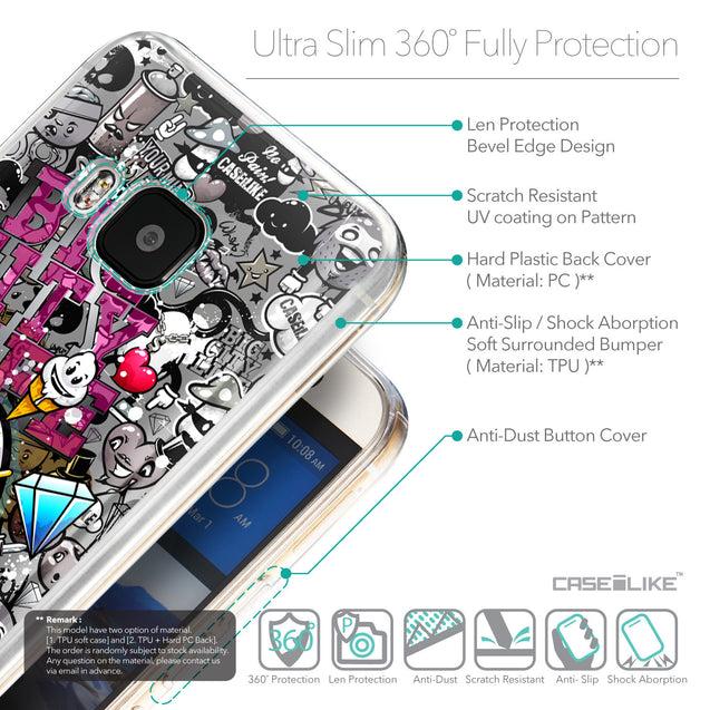 Details in English - CASEiLIKE HTC One M9 back cover Graffiti 2704