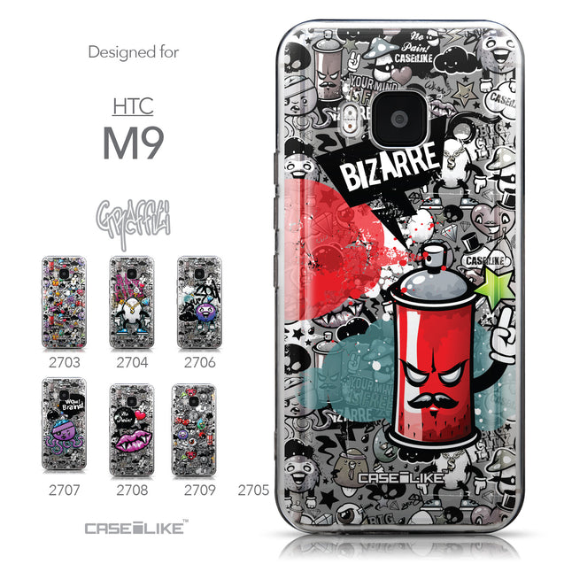 Collection - CASEiLIKE HTC One M9 back cover Graffiti 2705