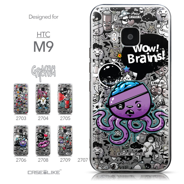 Collection - CASEiLIKE HTC One M9 back cover Graffiti 2707