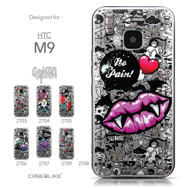 Collection - CASEiLIKE HTC One M9 back cover Graffiti 2708