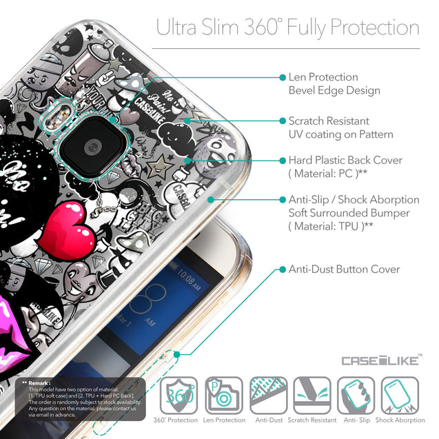Details in English - CASEiLIKE HTC One M9 back cover Graffiti 2708