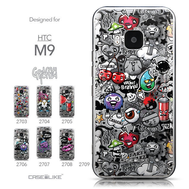 Collection - CASEiLIKE HTC One M9 back cover Graffiti 2709