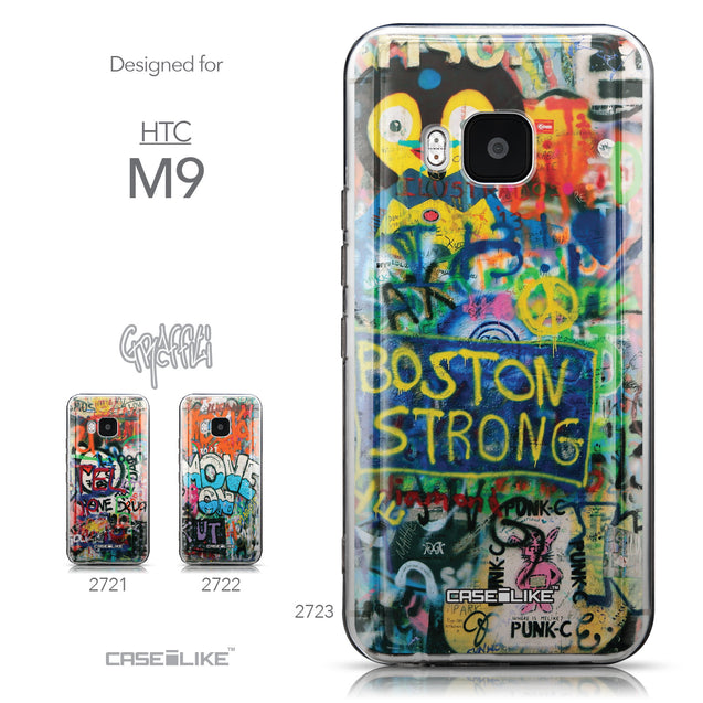 Collection - CASEiLIKE HTC One M9 back cover Graffiti 2723