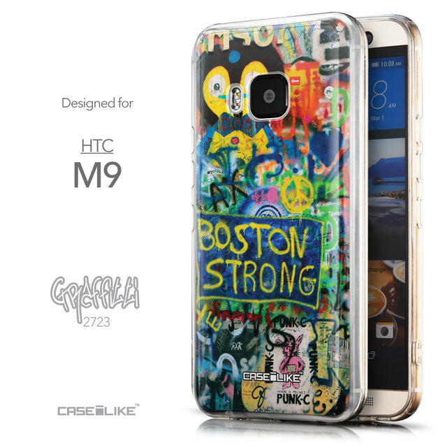 Front & Side View - CASEiLIKE HTC One M9 back cover Graffiti 2723