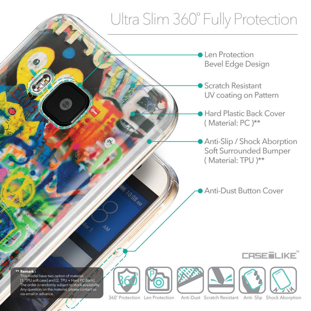 Details in English - CASEiLIKE HTC One M9 back cover Graffiti 2723