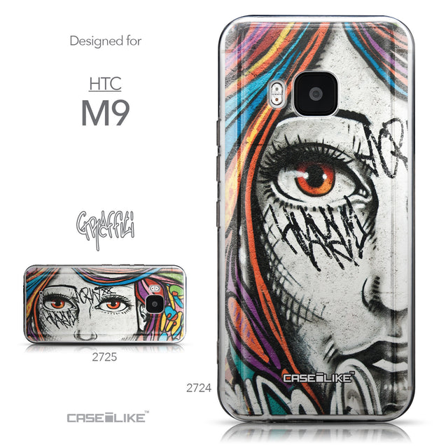 Collection - CASEiLIKE HTC One M9 back cover Graffiti Girl 2724