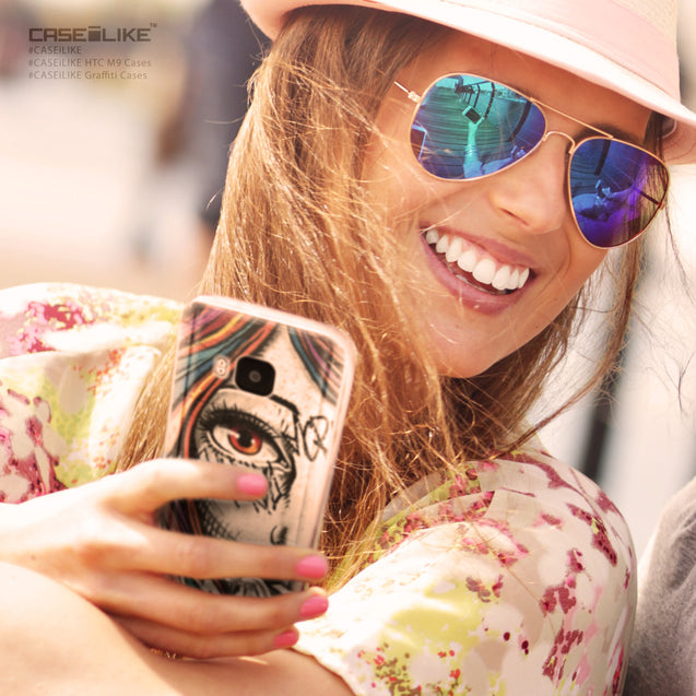 Share - CASEiLIKE HTC One M9 back cover Graffiti Girl 2724