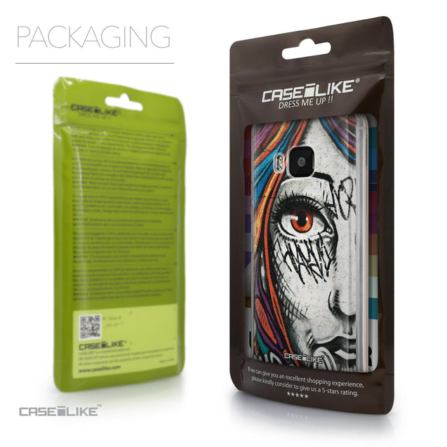 Packaging - CASEiLIKE HTC One M9 back cover Graffiti Girl 2724