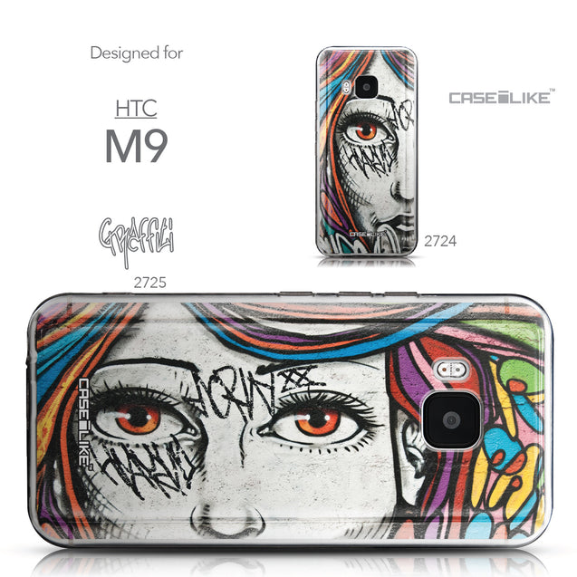 Collection - CASEiLIKE HTC One M9 back cover Graffiti Girl 2725