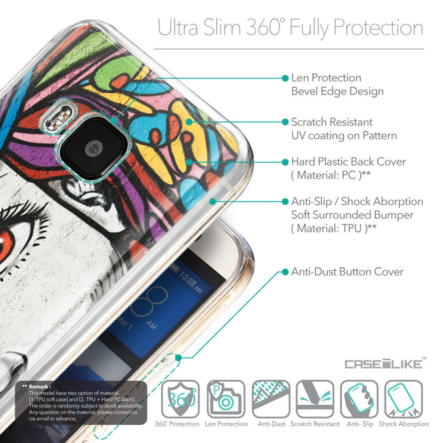 Details in English - CASEiLIKE HTC One M9 back cover Graffiti Girl 2725