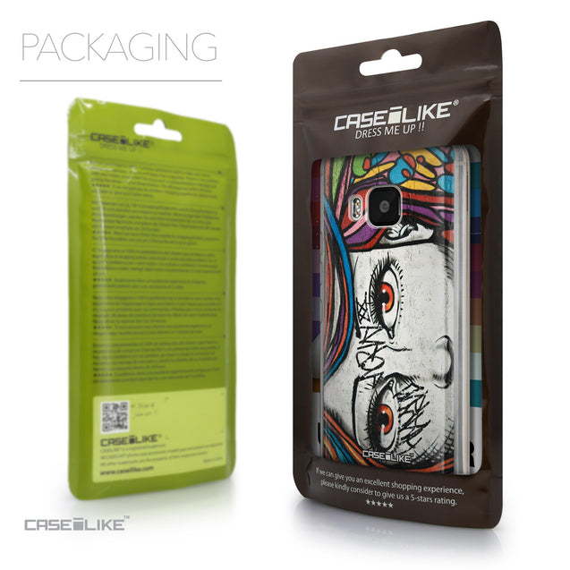 Packaging - CASEiLIKE HTC One M9 back cover Graffiti Girl 2725