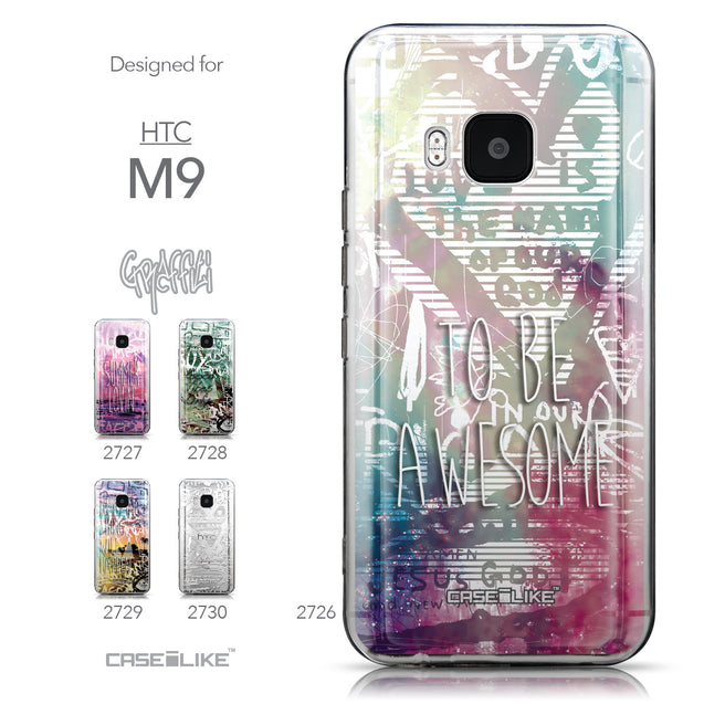 Collection - CASEiLIKE HTC One M9 back cover Graffiti 2726