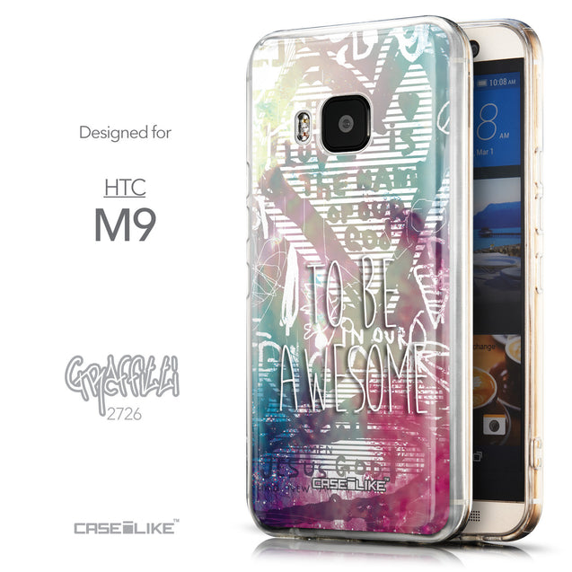 Front & Side View - CASEiLIKE HTC One M9 back cover Graffiti 2726
