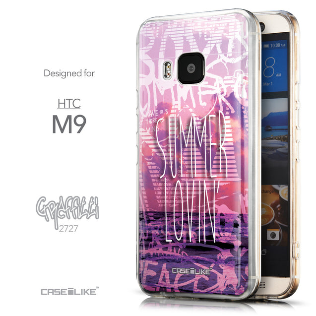 Front & Side View - CASEiLIKE HTC One M9 back cover Graffiti 2727