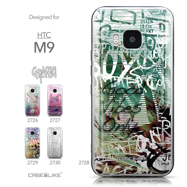 Collection - CASEiLIKE HTC One M9 back cover Graffiti 2728