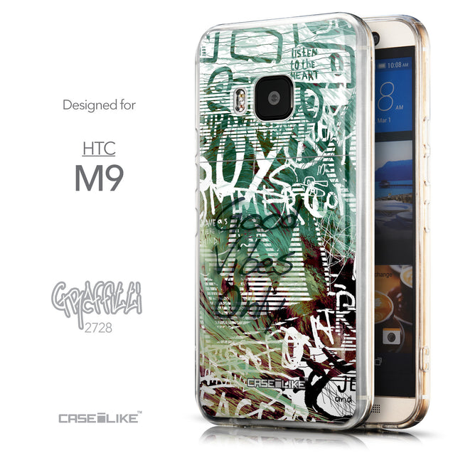 Front & Side View - CASEiLIKE HTC One M9 back cover Graffiti 2728