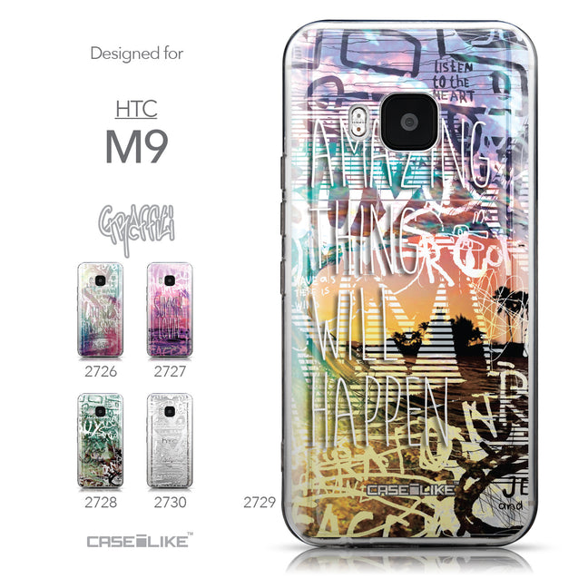 Collection - CASEiLIKE HTC One M9 back cover Graffiti 2729