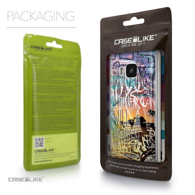 Packaging - CASEiLIKE HTC One M9 back cover Graffiti 2729