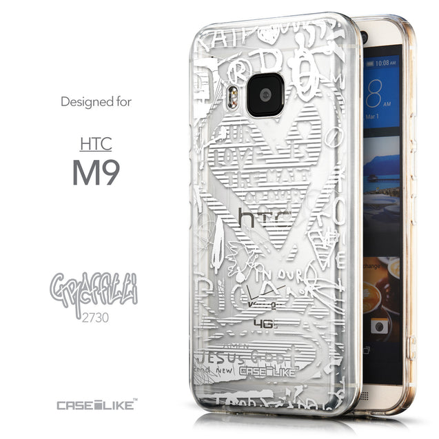 Front & Side View - CASEiLIKE HTC One M9 back cover Graffiti 2730
