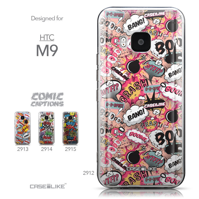 Collection - CASEiLIKE HTC One M9 back cover Comic Captions Pink 2912