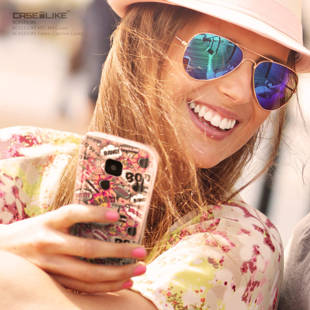 Share - CASEiLIKE HTC One M9 back cover Comic Captions Pink 2912