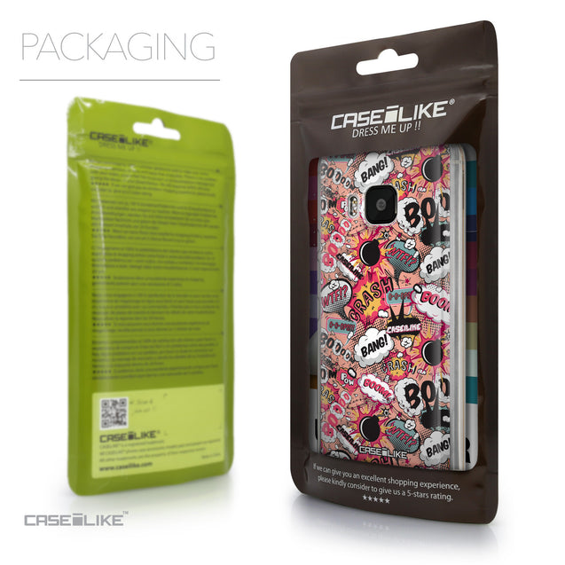 Packaging - CASEiLIKE HTC One M9 back cover Comic Captions Pink 2912