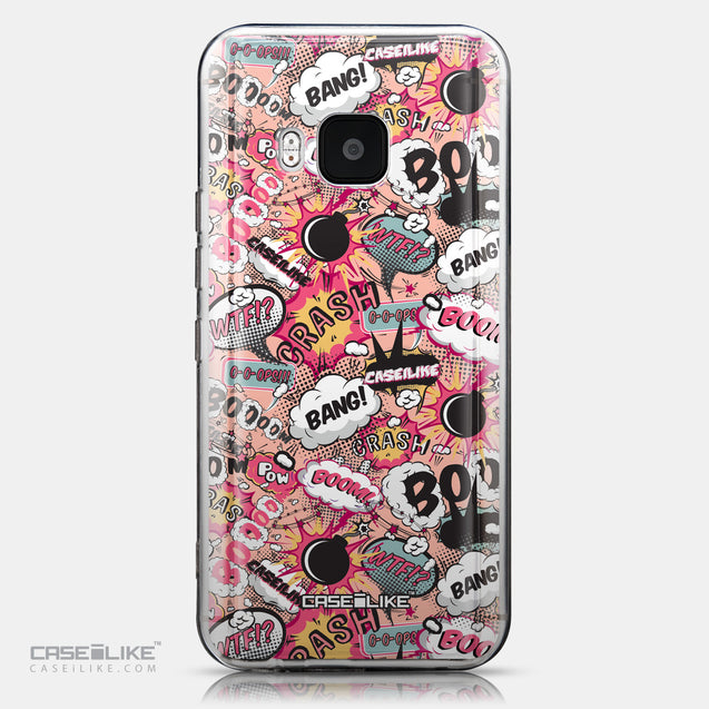 CASEiLIKE HTC One M9 back cover Comic Captions Pink 2912