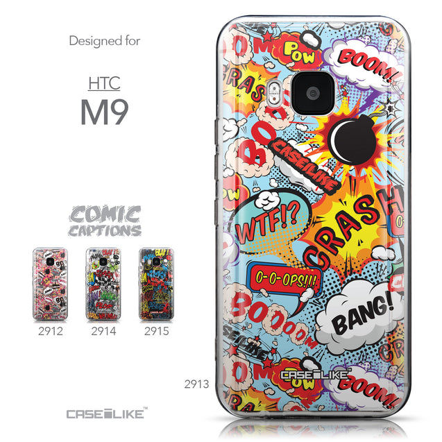 Collection - CASEiLIKE HTC One M9 back cover Comic Captions Blue 2913