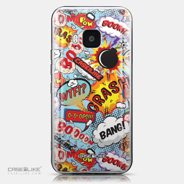 CASEiLIKE HTC One M9 back cover Comic Captions Blue 2913