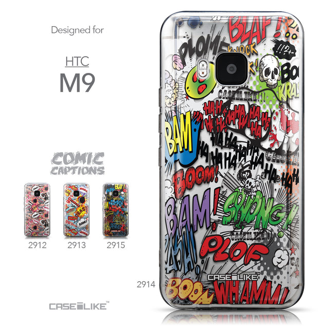 Collection - CASEiLIKE HTC One M9 back cover Comic Captions 2914