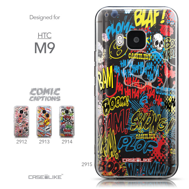Collection - CASEiLIKE HTC One M9 back cover Comic Captions Black 2915