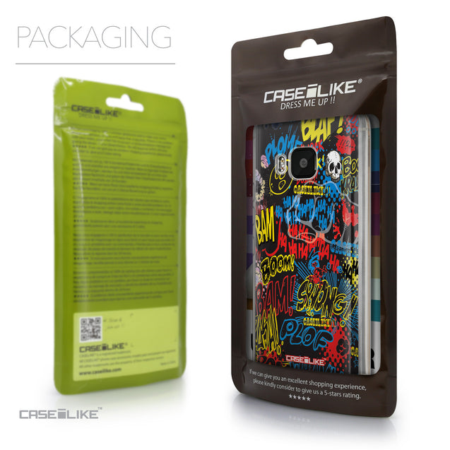 Packaging - CASEiLIKE HTC One M9 back cover Comic Captions Black 2915